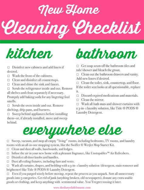 moving made somewhat simple new home cleaning checklist