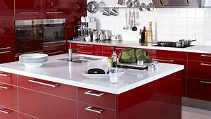 Modular Kitchen Designs Red White - Home Design Ideas
