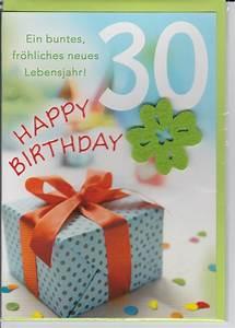 30 Dinge Zum 30 Geburtstag : herzlichen gl ckwunsch zum geburtstag zahl gru karte gl ckwunsch ~ Bigdaddyawards.com Haus und Dekorationen