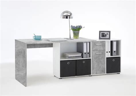 p desk l shaped computer desk grey by furniturefactor