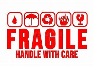 Fragile Handle With Care Red Stock Image - Illustration of ...
