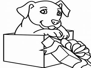 Puppy Face Coloring Christmas Dog Pages Pet - grig3.org