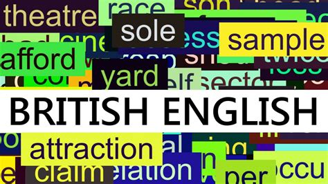 3000+ Common English Words With British Pronunciation