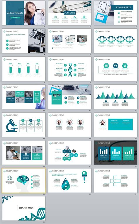 medical industry powerpoint templates  behance