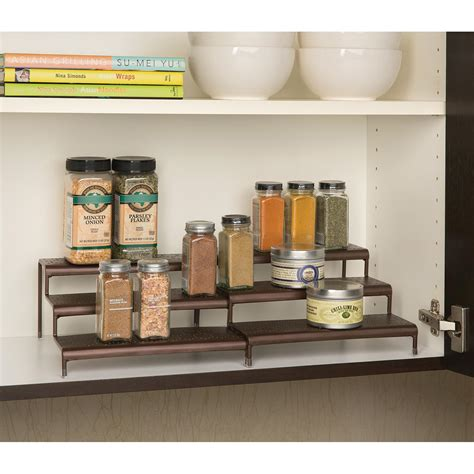 Step Spice Rack by Seville Classics 3 Tier Expandable Spice Rack