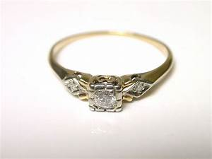 vintage diamond rings yellow gold wedding promise With vintage gold wedding ring