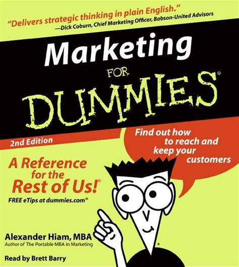 marketing for dummies marketing for dummies 2nd ed hiam digital