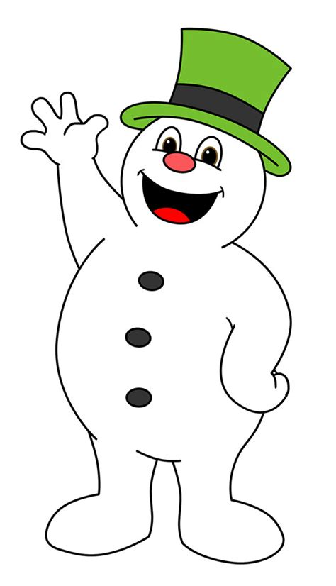 frosty the snowman clipart drawing clipart snowman pencil and in color drawing
