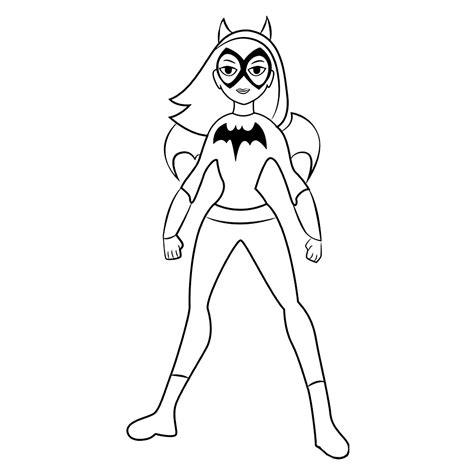 Kleurplaat Batgirl by Leuk Voor Batgirl