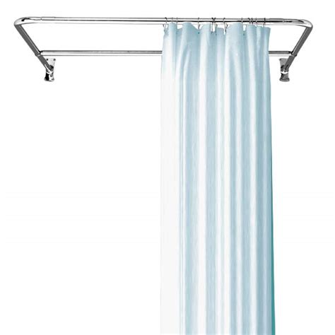 d shaped shower rod package kn093 clawfoot tubs and