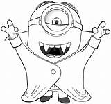 Coloring Vampire Minion Pages sketch template