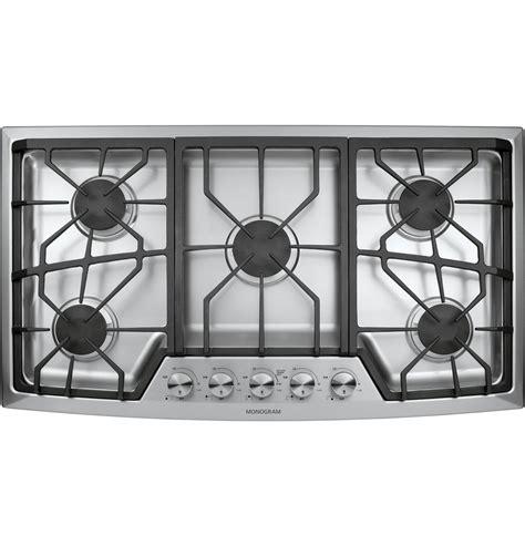 ge monogram  stainless steel gas cooktop liquid