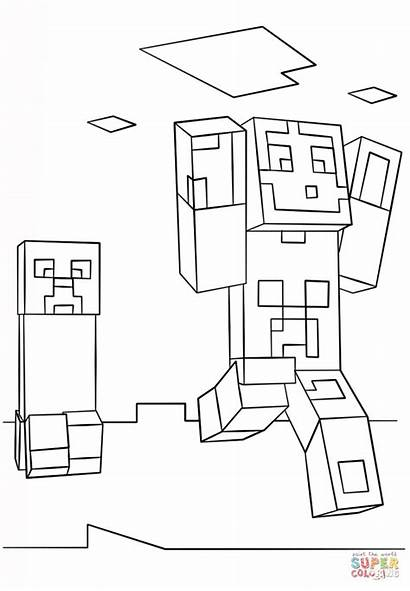 Minecraft Coloring Creeper Face Printable