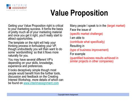 Unique Value Proposition Resume by Personal Value Proposition 643263 Statement Exle