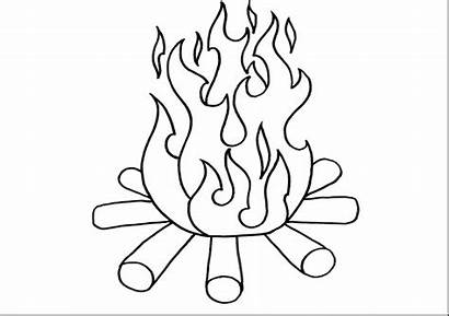 Fire Coloring Pages Printable Getdrawings