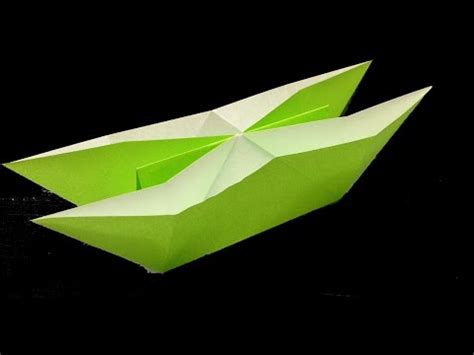 How To Make A Paper Double Boat by How To Make A Paper Double Boat Using Origami Paper Youtube