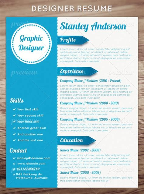 Graphically Appealing Resumes by Designer Resume Print Codegrape