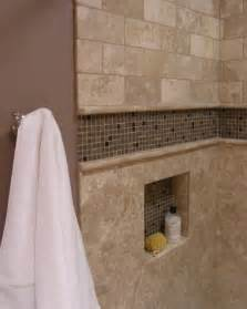 bathroom niche ideas accent tiled niche