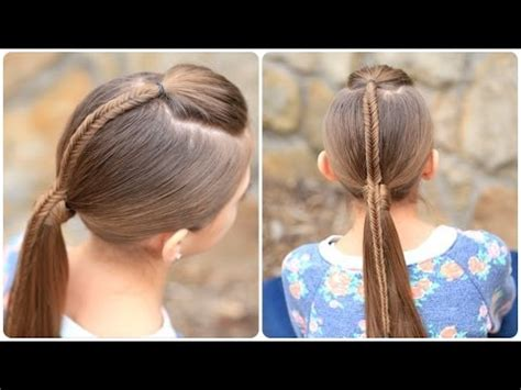 create  fishtail accented ponytail youtube
