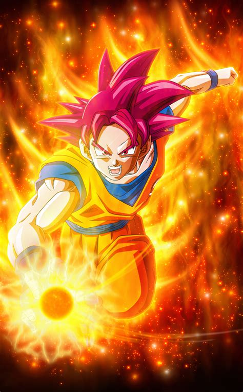 super saiyan god goku dragon ball hd  wallpaper