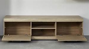 Meuble Chene Clair : meuble tv couleur ch ne clair style contemporain ~ Edinachiropracticcenter.com Idées de Décoration
