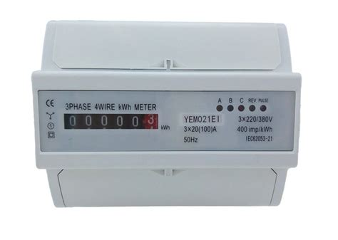 50hz register four wire three phase energy meter electronic digital counter type kwh