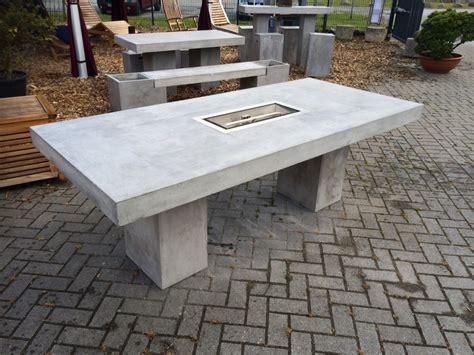 garten steintisch feuertisch 220x100 cm betontisch feuerstelle betonmöbel