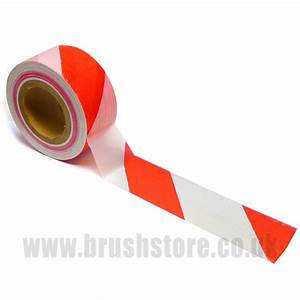 Red & White Safety Barrier Tape 70mm x 50m - BrushStore