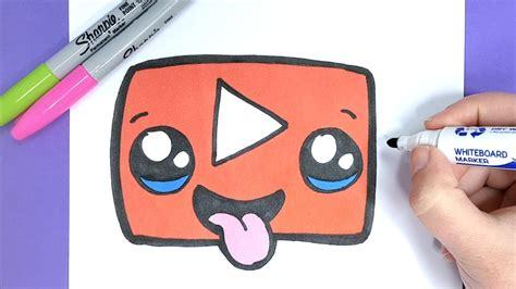 kawaii youtube logo selber malen einfach und suess youtube