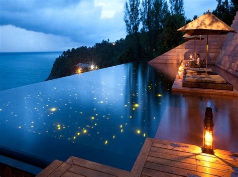 lights  turn  pool  starry sky
