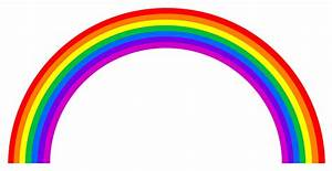 Rainbow clip art black and white free clipart images ...