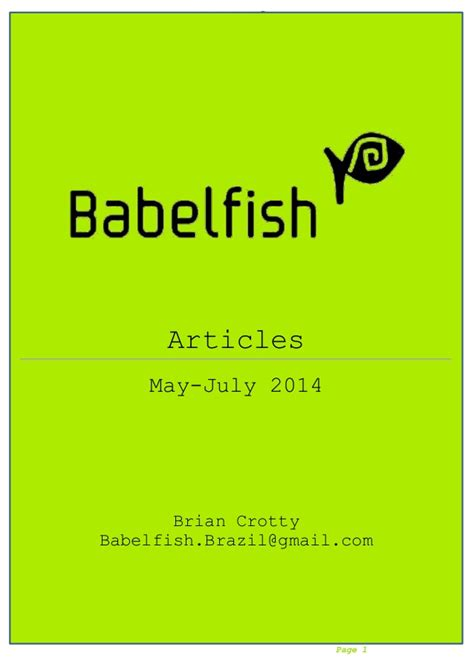 Babelfish Articles Mayjuly 2014 20814