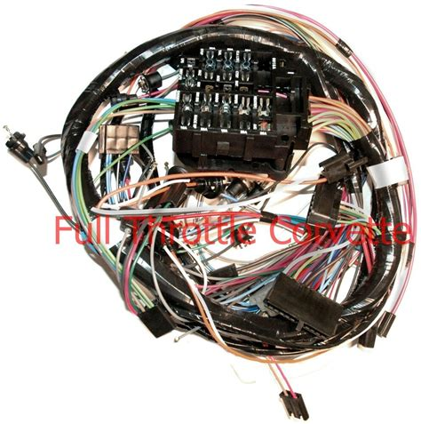 1969 corvette dash wiring harness for vettes with a c ebay