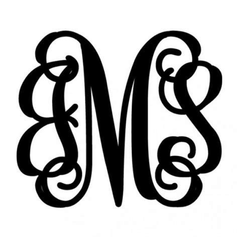 monogrammed  door script metal monogram