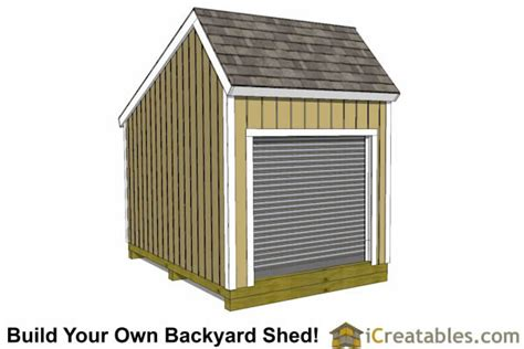 Saltbox Shed Plans 8x12 by 12x8 Salt Box Garage Door Shed Plans Motorcycle Garage