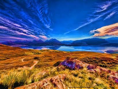 Scotland Desktop Wallpapers Mountains Loch Torridon Mountain
