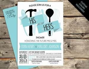 shower invitations couples shower invitations and With his and her wedding shower invitations