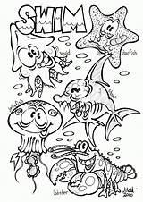Coloring Ocean Pages Preschool Printable Popular sketch template