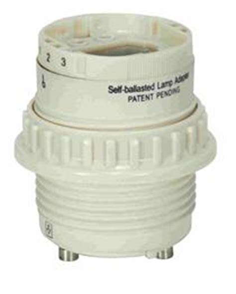 self ballasted l adapter satco 80 1856 277 volt gu24 bi pin base to 4 pin g24q 2 or