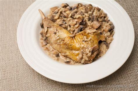 cuisiner une cuisse de poulet cuisses de pintade aux chignons et riz sauce au porto