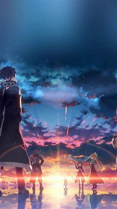 Anime Iphone Wallpapers Sunset Sao Phone Android