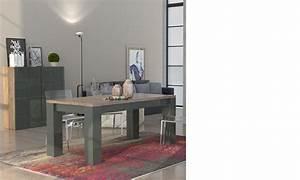 Salle A Manger Bois Moderne : salle a manger moderne laqu anthracite et couleur bois lugano ~ Teatrodelosmanantiales.com Idées de Décoration
