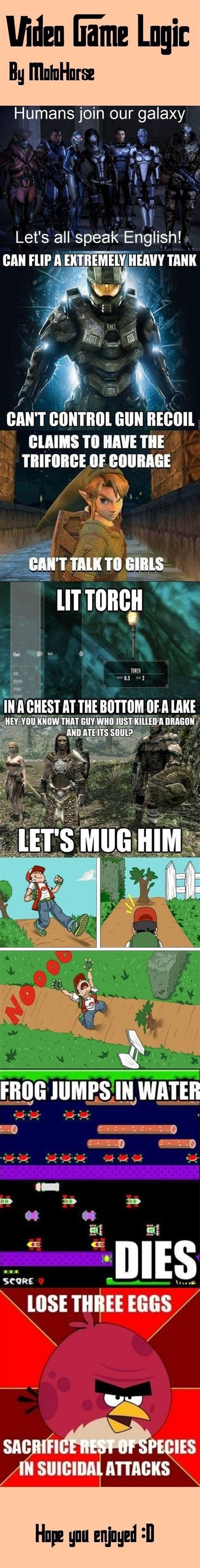 Game Logic Meme - video game logic www meme lol com video games pinterest the o jays videos and lol