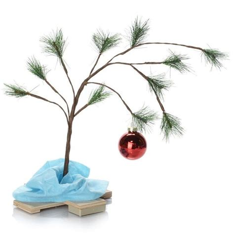 large charlie brown christmas tree product works 14211 musical brown lonely tree w blanket ebay