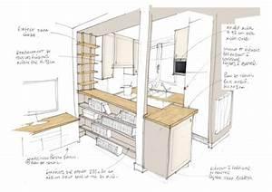 comment optimiser l39amenagement d39une petite cuisine ouverte With plan de cuisine ouverte