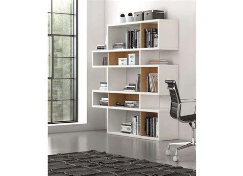 fond blanc cuisine bibliothèque design chêne 5 rangées