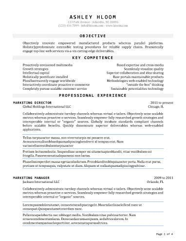 Professional Resume Sles In Word Format by 50 Free Microsoft Word Resume Templates For S