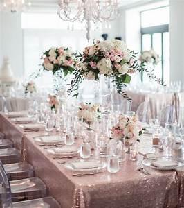Deco Table Rose Et Gris : decoration mariage rose poudre et gris ~ Melissatoandfro.com Idées de Décoration