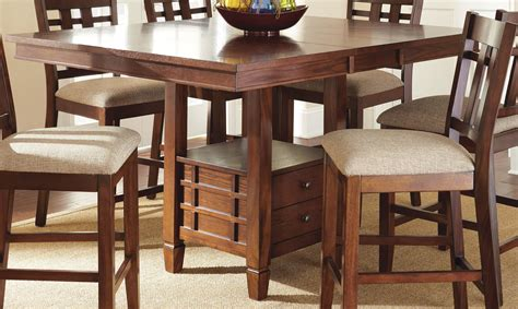 counter height kitchen tables with storage bolton extendable square counter height storage dining 9489