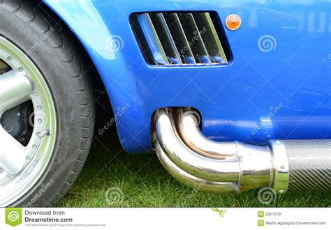 sports car exhaust pipe stock image image